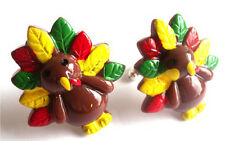 BEAUTIFUL HANDMADE CHRISTMAS TURKEY CUFFLINKS + FREE GIFT BAG