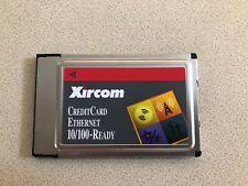Xircom Credit Card Ethernet 10/100 PCMCIA Laptop Network Card CE3B-100 No Cable