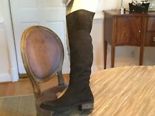 J JILL Gray Suede Over the Knee Boots Low heel. Sz 9