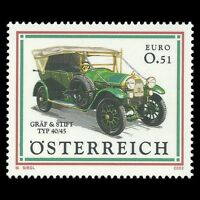 Austria 2002 - Classic Cars Motor Vehicle Transport - Sc 1902 MNH