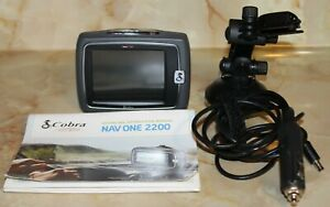Cobra NAV ONE 2200 Automotive Mountable GPS Bundle w/ Cord, Manual, Bracket