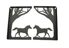 Running Horse Shelf Bracket Set - Western