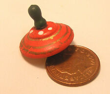1:12th Scale Wooden Spinning Top Dolls House Miniature Nursery Toy Accessory 696