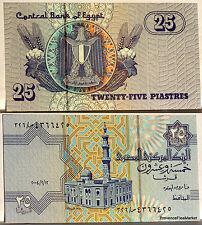 EGYPTE billet neuf de 25 PIASTRES mosquee et blason Pick57e