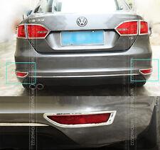 FIT FOR 2011- 2012 VW JETTA MK6 REAR BUMPER CHROME FOG LIGHT TRIM LAMP COVER