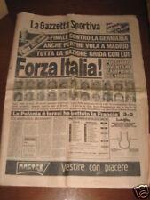 GAZZETTA DELLO SPORT 11/07/1982 CAMPIONATO MONDIALE @
