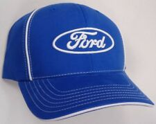 Hat Cap Licensed Ford Oval Blue White Piping CF G1831