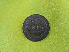 ancienne piece monnaie COIN 1819 I a identifier apatride italie ? 1.9 cm