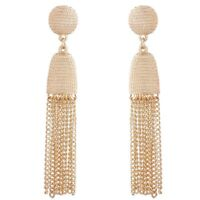 Women's Long Tassel Elegant Metal chain Earrings Gold Ear Stud Jewelry Gift