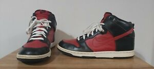 Nike 2010 Dunk High - Black Varsity Red - UK Size 8 - Trainers / Sneakers