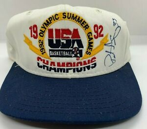 Patrick Ewing Autographed 1992 USA Basketball Hat Olympics Champions Dream Team