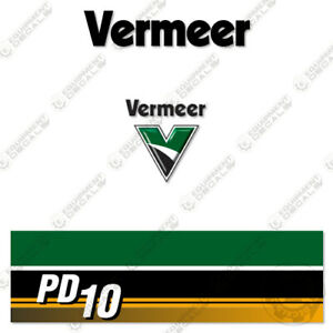 Vermeer PD10 Decal Kit (PD 10) Pile Driver Replacement Stickers - 7 Year Vinyl