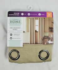 "JCP Dark Dune Beige Room Darkening Mckenna Grommet Curtain Panel 50""x63"" 50""x84"""