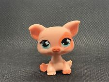 Littlest Pet Shop LPS Authentic 622 Pink Coral White Polka Dot Blue Cross Eyes