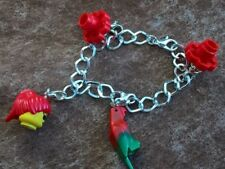 """NEW Pirate Lego Charm Bracelet app. 18cm/7"""" Pirate Girl and Parrot GREAT GIFT"""