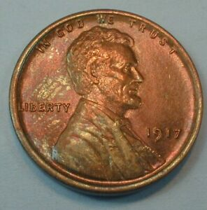 1917 USA Lincoln Wheat Cent in Nice Uncirculated Condition  (464)