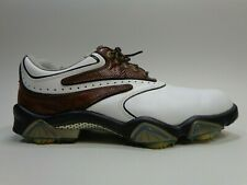 FootJoy Synr G 53862 Golf Shoes White Brown Leather Memory Foam Mens Size 9.5 M