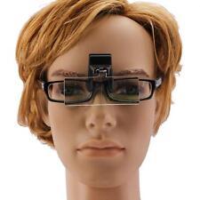 3PC Lens Clamp-On Adjustable Lens to Glasses Magnifier for Eyeglasses