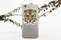 Tiger Print iPhone XS Max XR Silicone Case Animal Print iPhone 6s 7 8 Plus Cover