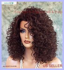 LACE FRONT JERRY CURLS WIG COLOR #4 SASSY SEXY HOT STYLE USA SELLER 1142