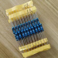 10value 1W Metal Film Resistor 1% 100pcs Assortment Kit, 1K 10K 100K 1M 100 ohm