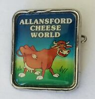 Allansford Cheese World Comical Souvenir Pin Badge Vintage (H5)