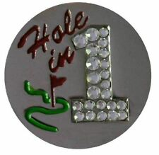 Swarovski Hole in One-Nickel Golf Ball Marker with Matching Hat Clip