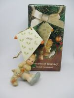 """Enesco Memories of Yesterday Ornament """"I'LL FLY ALONG TO SEE YOU SOON"""" 1992 w/bx"""