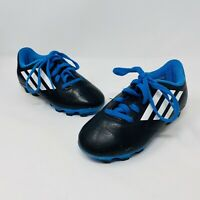 Adidas TRX FG Black Blue Lace Up Soccer Shoes Cleats Male Youth Size 11
