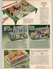 1965 PAPER AD Toy Play Mobile Home RV House Trailer Magnetic Doll House