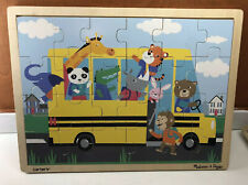 Melissa & Doug Carter's Wooden Frame Tray 24pc Puzzle School Bus