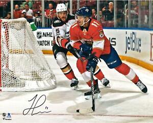 Jonathan Huberdeau Florida Panthers Signed 16x20 Red Jersey Skating Photo