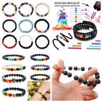 7 Chakra Healing Balance Beaded Bracelets Braided Stone Yoga Reiki Prayer Bangle