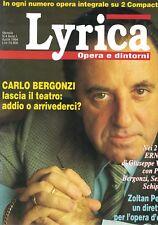 1994 04 - LYRICA - 04 1994 - N.4 - ANNO I - CARLO BERGONZI - SENZA CD