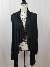 Covington Cascade Open Cardigan Long Sleeve Black Women's Size Large New
