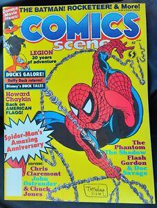 1988 COMICS SCENE #2 McFarlane Spider-man cvr Early app of VENOM  Batman ++