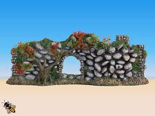 Ornamento de acuario adoquinadas muro de piedra con Archway Plantas Peces Tanque Decoración