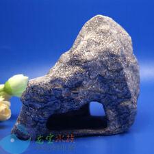 Aquarium Fish Tank Decorations Cichlid Stone Cave hide  for Angelfish shrimp MFL