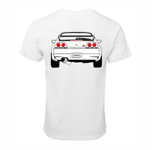 NISSAN SKYLINE R33 GTR RB26 T-SHIRT COTTON RACE CAR TURBO JDM DRIFT SHIRT