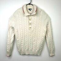 Banana Republic Sweater Mens Size 2XL Merino Wool Long Sleeve Heavy Braided Knit