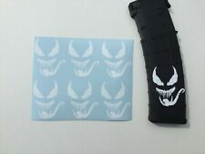 Venom Sticker 6 Pack, goes on mag, All Colors!