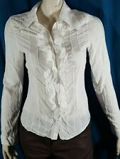 ANNE FONTAINE Taille 38 Superbe chemise manches longues blanche femme blouse