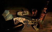 """""""Aces and Eights"""" Ron Lesser Open Edition Giclee Canvas - Western Art"""