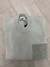 STONE ISLAND MEN'S JUMPER - STONE / LIGHT GREY- SIZE M - BRAND NEW WITH TAGS