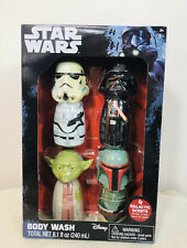 Nib Star Wars Body Wash Gift Set 4 Piece Mango Grape Berry Apple Scent