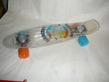 """Vintage Flameboy vs Wet Willy Clear Lighted Skateboard 23"""""""