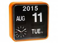 Large Auto Flip Calendar Wall Desk Table Modern Digital Retro Vintage New Clock