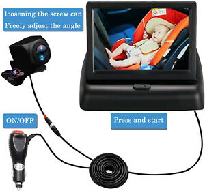 Smart Car Mirror Camera Safely Monitor Infant in Rear Observe the Baby's Move