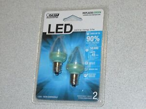 Feit Electric Accent Green LED Night Light Bulb - BPC7/G/LED NEW SEALED