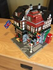 Lego Custom City Modular Building White Lion  Pub and Instructions.